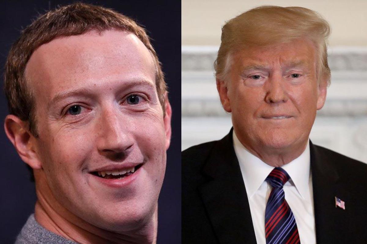 """Mark Zuckerberg felicitó a Trump por ser el """"número 1"""" en Facebook"""