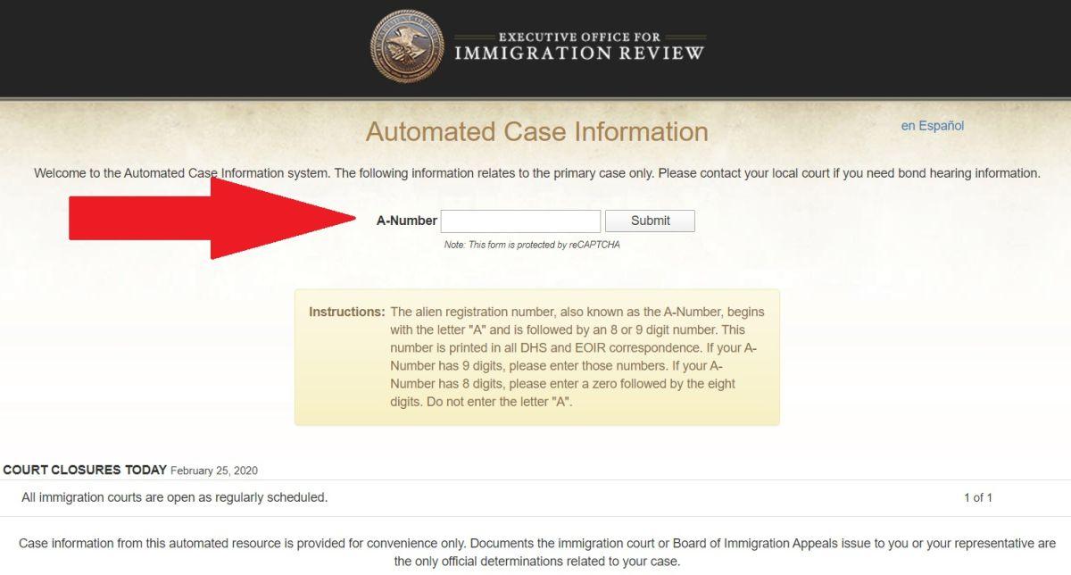 Inmigrantes podrán consultar fácilmente la situación de sus casos en cortes