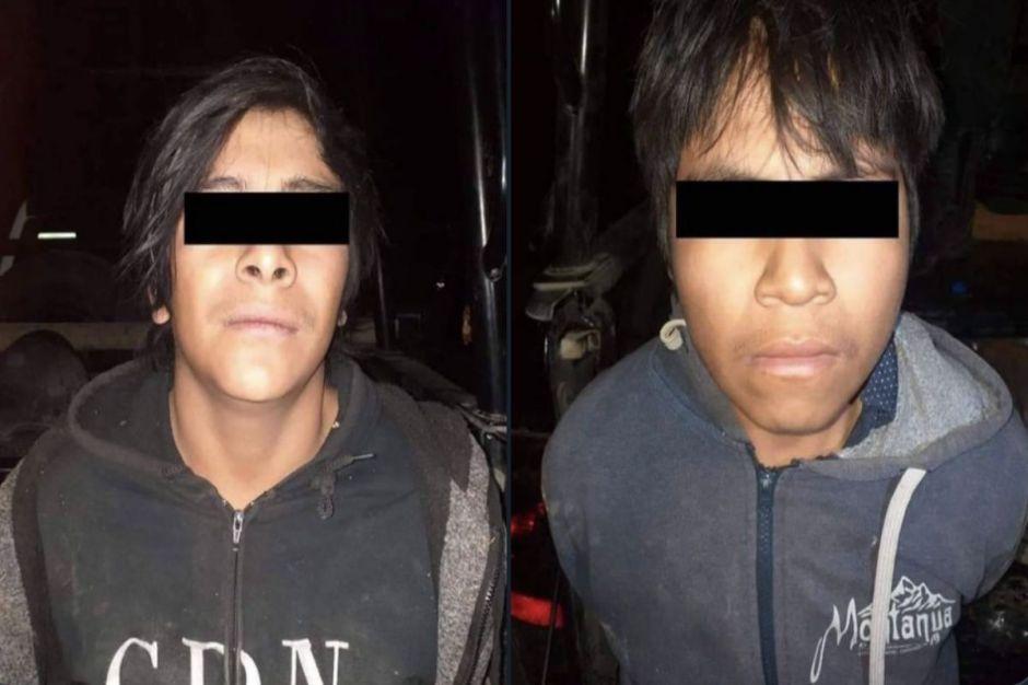 Detienen a dos halcones del Cártel del Noreste, son menores de edad y les encontraron droga