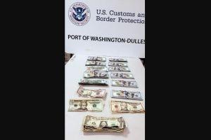 Le decomisan los $11,097 dólares que traía por declarar en la aduana que sólo llevaba $500