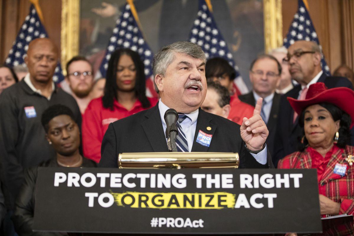 Richard Trumka, líder sindical de la AFL-CIO.