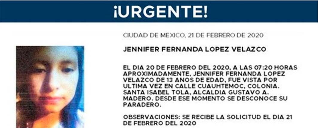 menores desaparecidos en Mexico