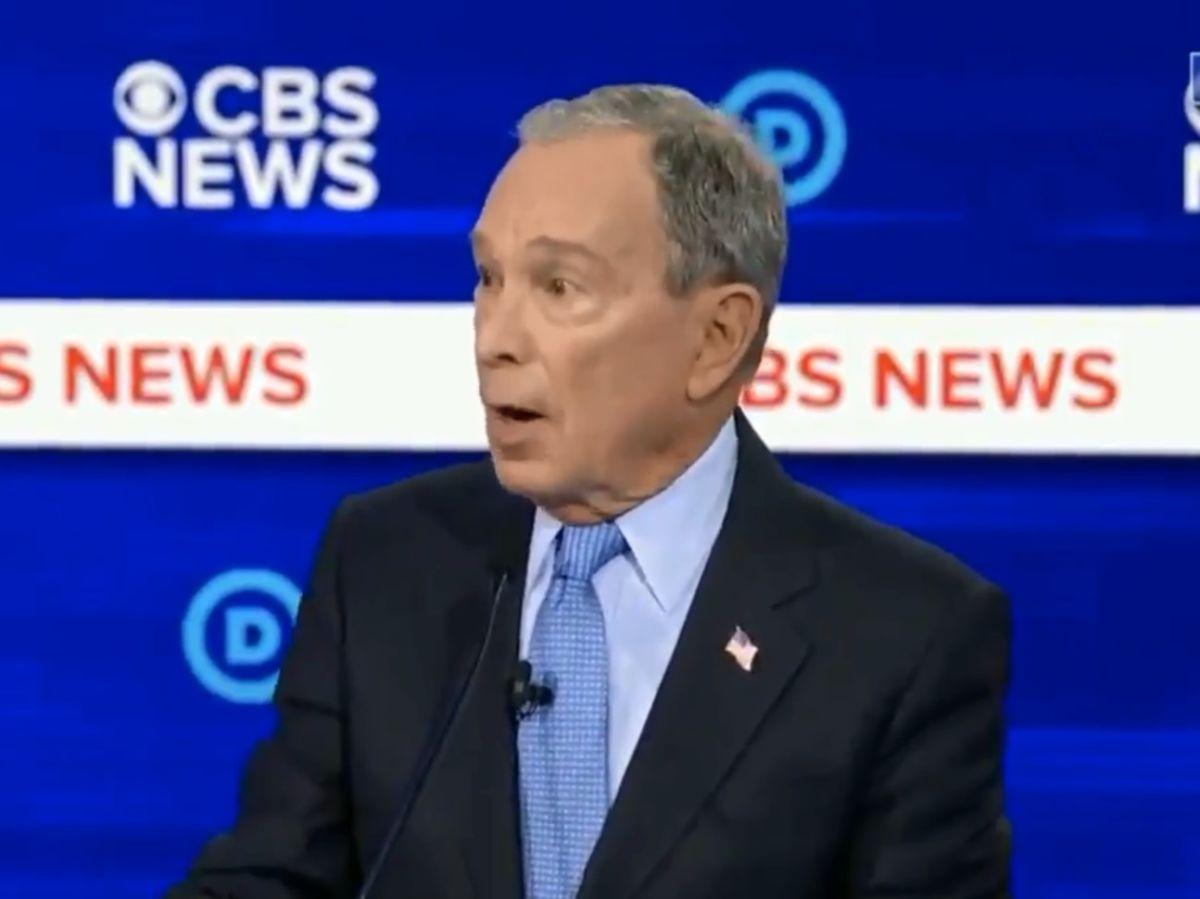 """A Bloomberg """"se le fue la lengua"""" durante el debate y habló como multimillonario que todo lo compra"""