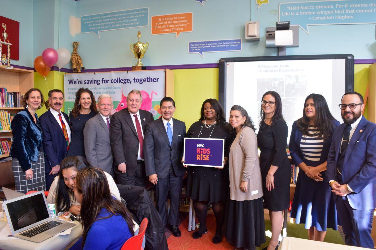 Amplían el  programa de ahorro de NYC Kids Rise para ir a la Universidad