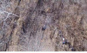 Ciego que estaba perdido en el bosque helado fue encontrado por un dron en Connecticut