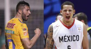 ¡Son compas! Juan Toscano, el nuevo jugador mexicano de la NBA visitó a André Pierre Gignac en su entrenamiento