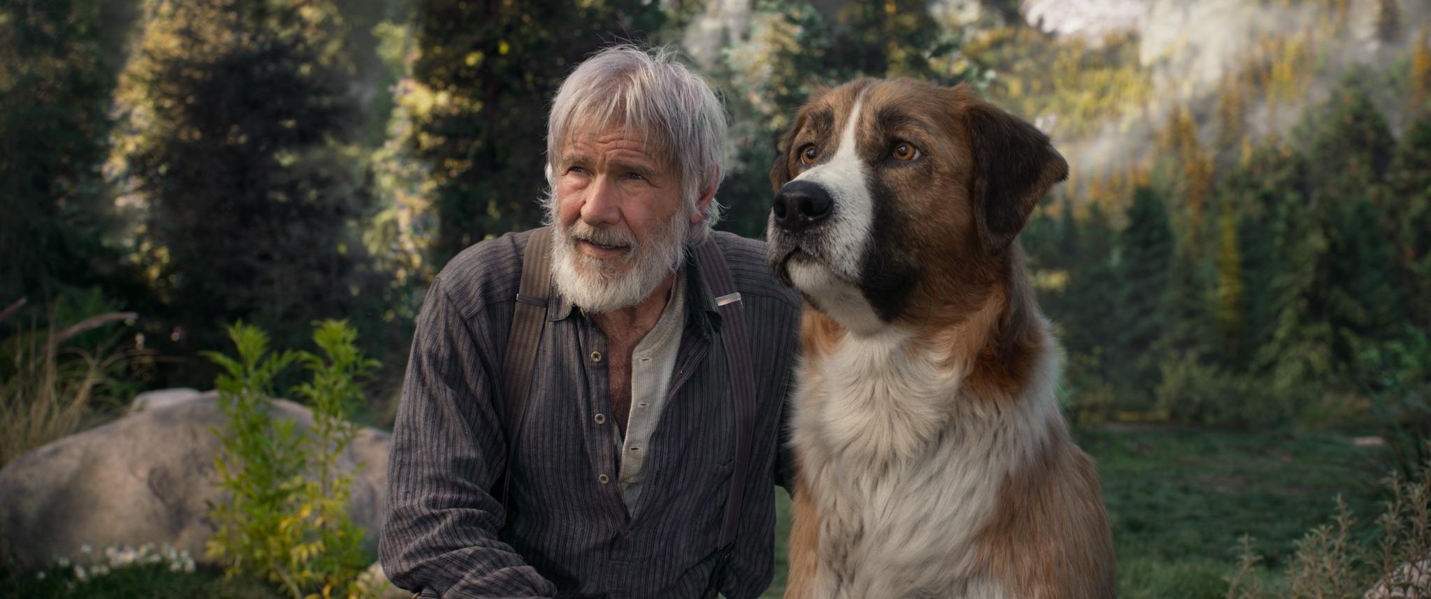 """Harrison Ford en el papel de Thornton y Buck en una escena de """"The Call of the Wild"""". / Foto: 20th Century Studios"""