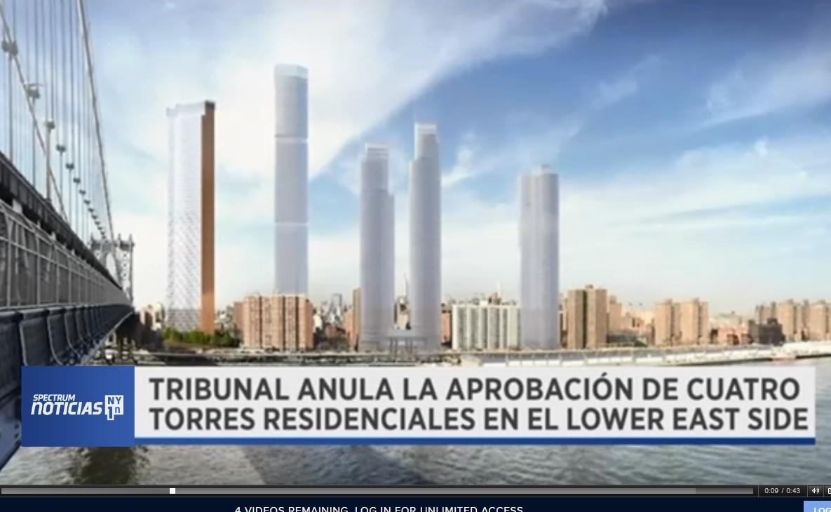 Juez supremo cancela construcción de cuatro rascacielos en el Bajo Manhattan