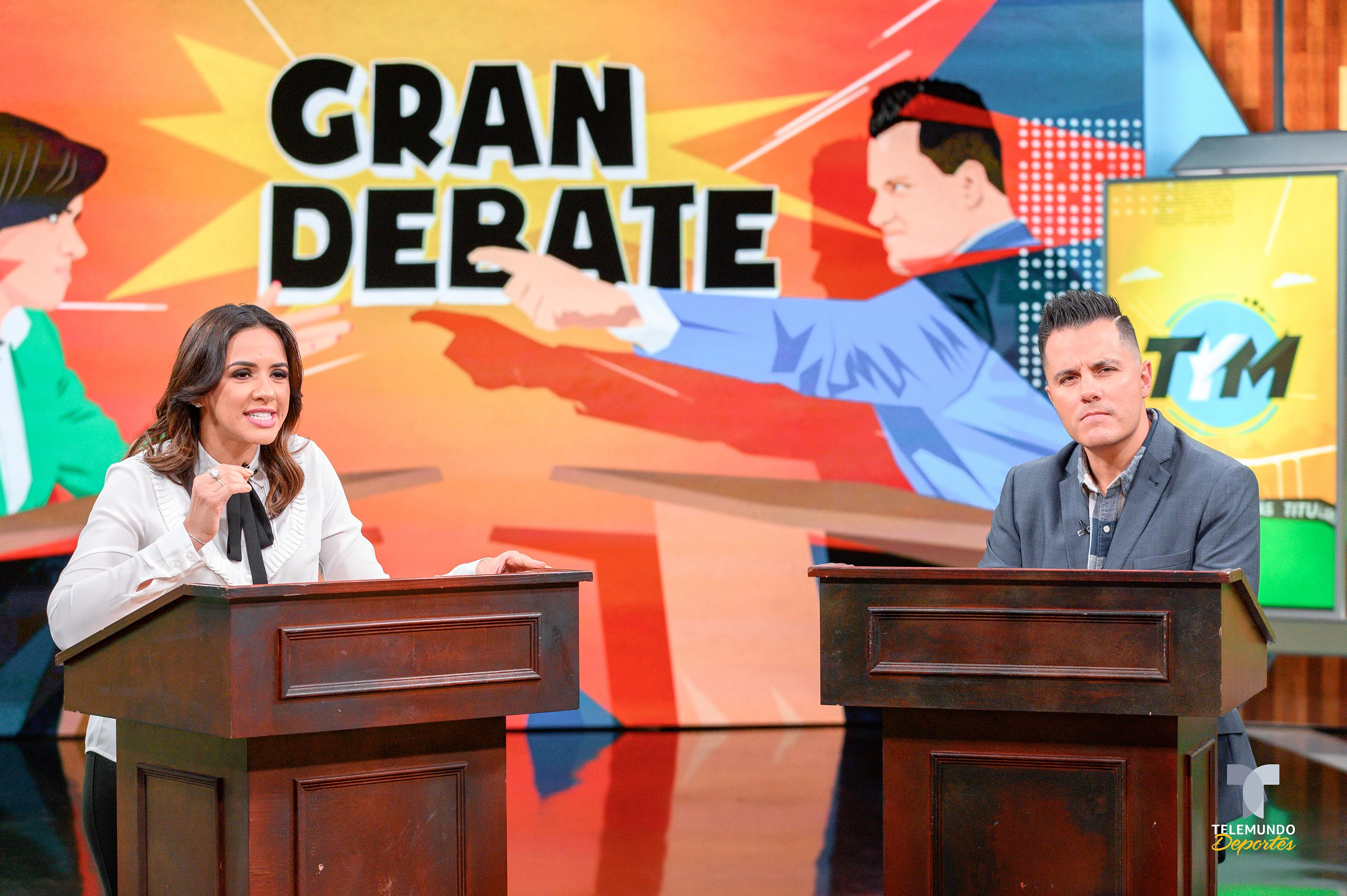 El show incluirá más debate. En la imagen, Jurka y Mendiburu. / Foto: Telemundo