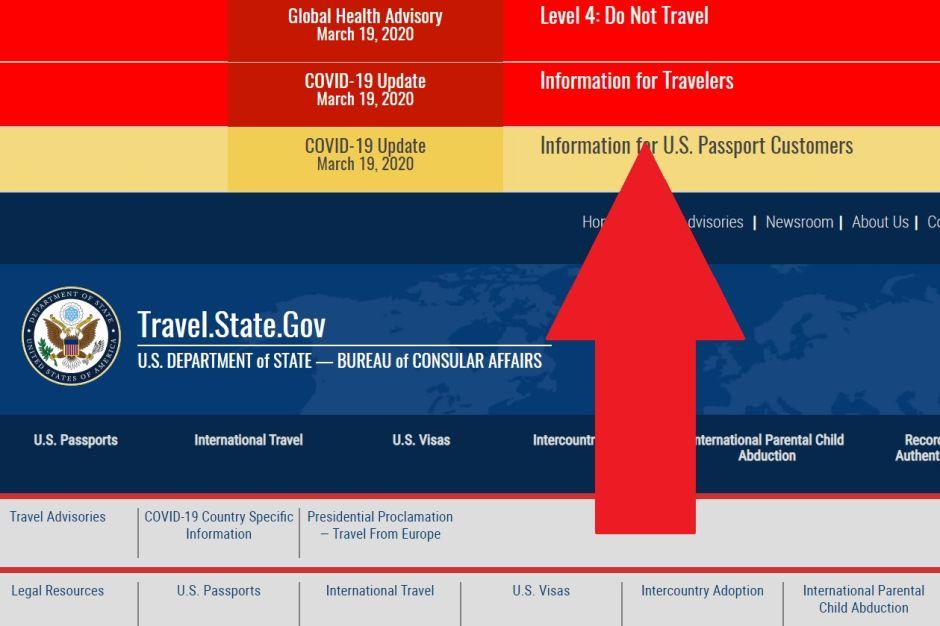 Departamento de Estado recomienda NO VIAJAR al extranjero debido al coronavirus y pide a estadounidenses volver al país