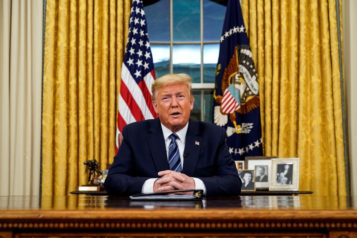 Trump se dirigió a la nación en la noche del miércoles.