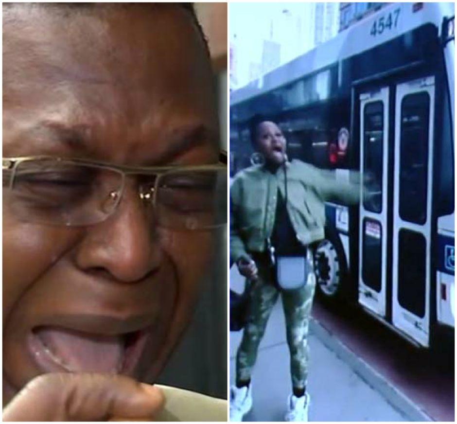 """A """"lágrima viva"""", conductor de bus en Brooklyn señalado por escupir a pasajera se defiende"""