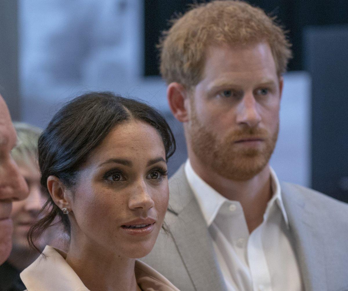 Meghan Markle, la duquesa de Sussex y su esposo el príncipe Harry.