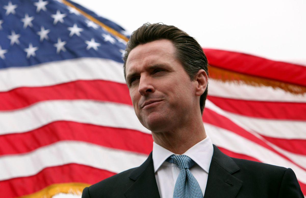 El gobernador de California Gavin Newsom.