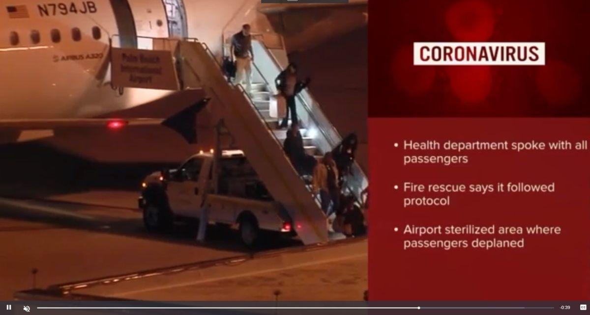 Alerta en Florida por pasajero con coronavirus que voló en JetBlue desde Nueva York