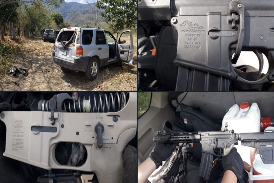 Narcos atacan a Guardia Nacional pero terminan huyendo; les decomisan trocas y armas