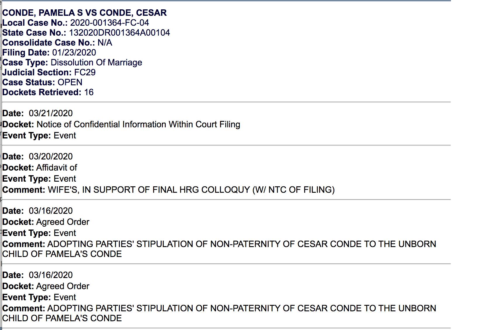 La demanda de divorcio entre Pamela Silva y César Conde