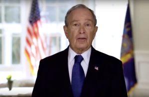 Mike Bloomberg habla del coronavirus como si fuera el presidente de Estados Unidos
