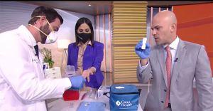 Karla Martínez se hizo prueba de coronavirus en vivo y mira lo que sucedió