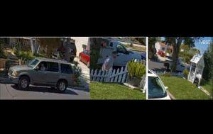 VIDEO: el momento en que un ladrón de paquetes actúa en el distrito de Melrose