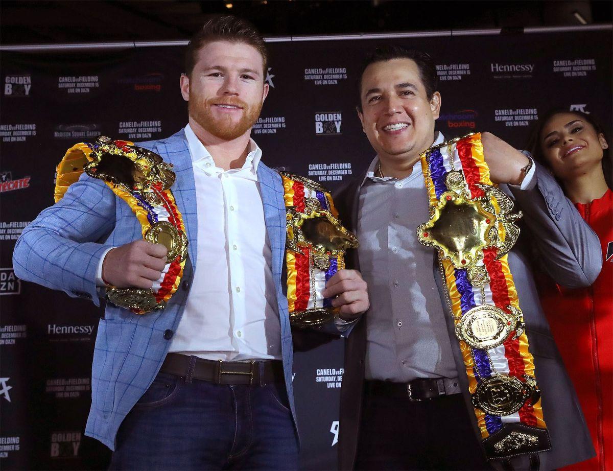 Canelo y Eddy Reynoso fueron nombrados como el boxeador y el entrenador del año (2019).