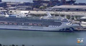 65 personas hacen cuarentena a bordo de un crucero en el Puerto de Miami