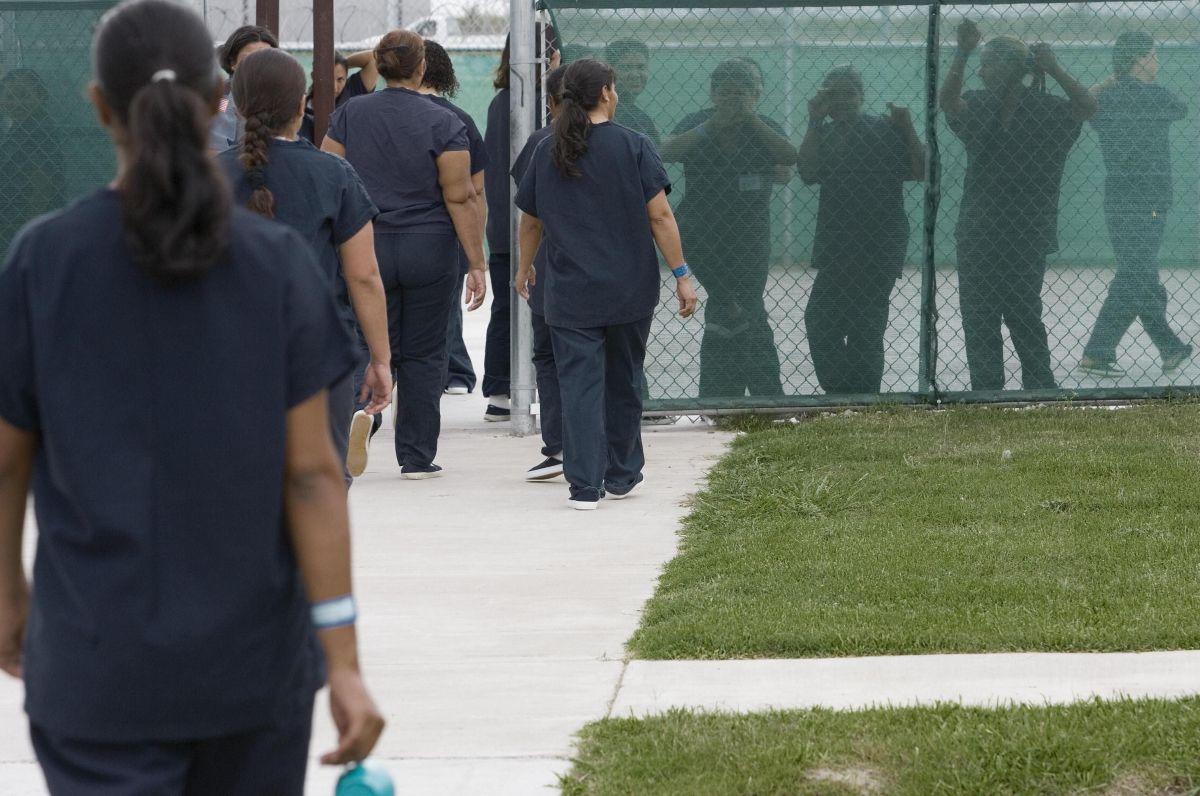 Imagen de archivo de un centro de detención de inmigrantes en Texas.