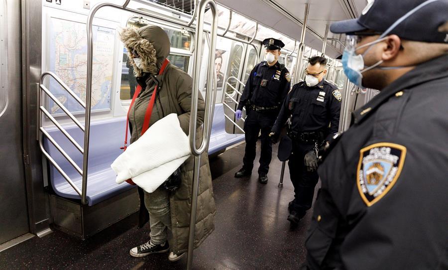Más de 2 mil indigentes desalojados en cierre que interrumpió 60 millones de minutos de servicio en la historia del Metro de Nueva York