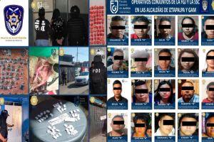 VIDEO: Detienen a 22 con más de mil dosis de marihuana y cocaína listas para vender
