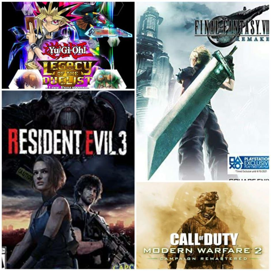 Reseña: Final Fantasy VII Remake; Resident Evil 3 Call of Duty: MW2 y Yu-Gi-Oh! Legacy of the Duelist