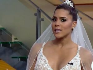 Francisca Lachapel: Con tristeza y nostalgia se pone vestido de novia