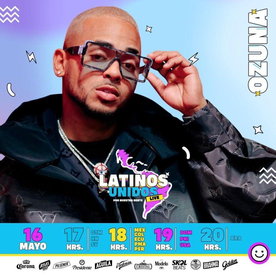 Ozuna inicia la serie de conciertos #LatinosUnidos para ayudar a las comunidades latinas