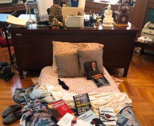 Presidente de Brooklyn decidió quedarse a vivir en su oficina por la pandemia