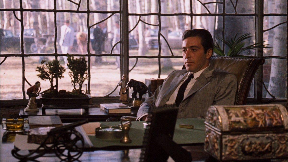 Al Pacino en El Padrino II, filme clásico de la mafia italiana en NY.