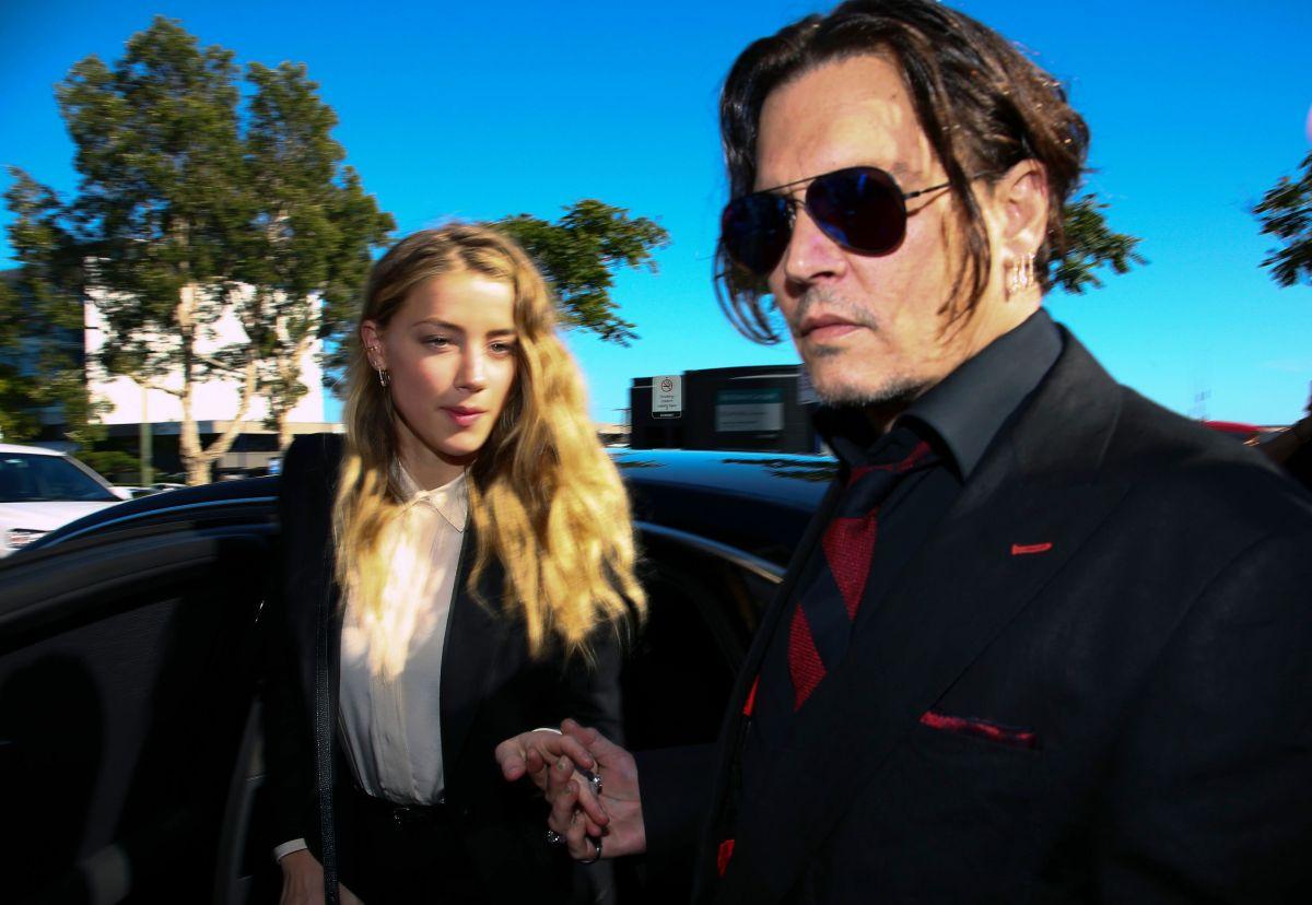 Johnny Depp y su ex esposa Amber Heard.