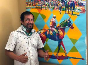 Dormirán en el hipódromo de Santa Anita: el jinete mexicano Víctor Espinoza sale de su casa tras dos meses en cuarentena