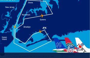 3 aviones de JetBlue volarán hoy muy bajo sobre Nueva York en honor a trabajadores esenciales