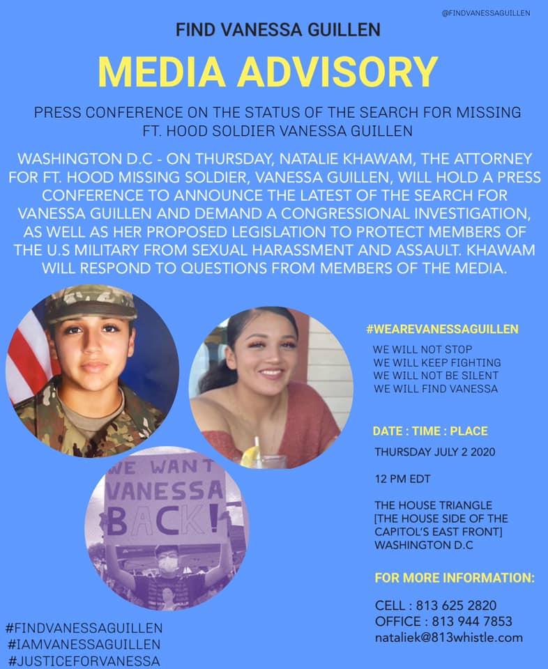 Familia de soldado Vanessa Guillén llega hasta el Congreso en Washington para exigir investigación del caso