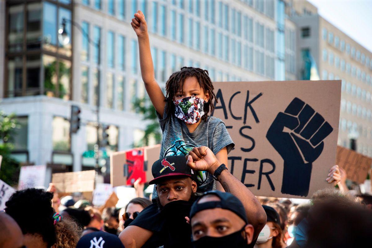 Washington D.C. vivió una manifestación masiva por George Floyd.
