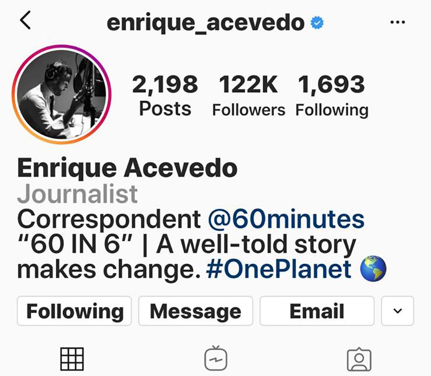 Instagram de Enrique Acevedo