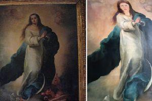 Manda restaurar obra de arte y el resultado es desastroso