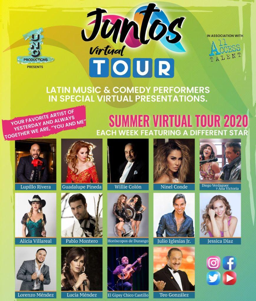 Lupillo Rivera, Lorenzo Méndez, Ninel Conde, Alicia Villareal y muchos más unidos darán sorpresa online a sus fanáticos