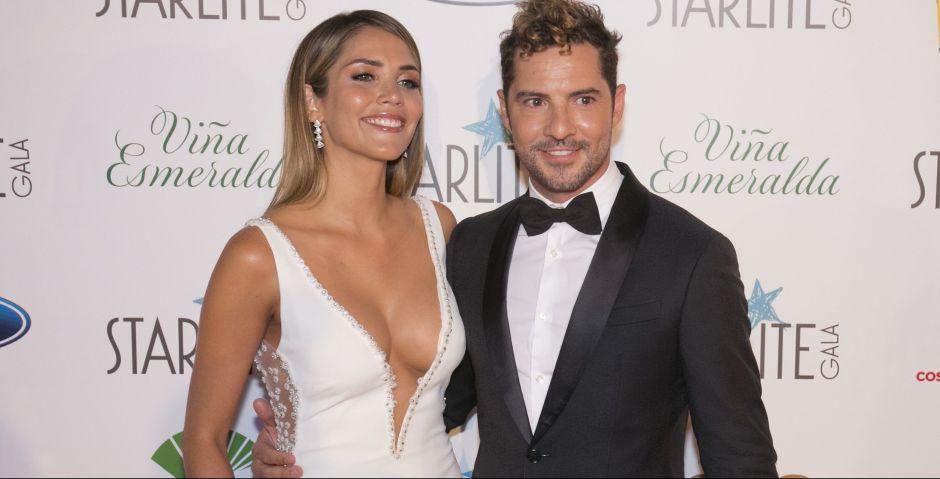 Con un vestido transparente, esposa de David Bisbal, Rosanna Zanetti, presumió su belleza y embarazo