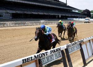 """Caballo de Nueva York con jinete boricua ganan un Belmont Stakes """"fantasma"""""""