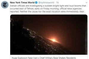 Enorme explosión cerca de la principal base militar de Irán sacude a la población por temor nuclear