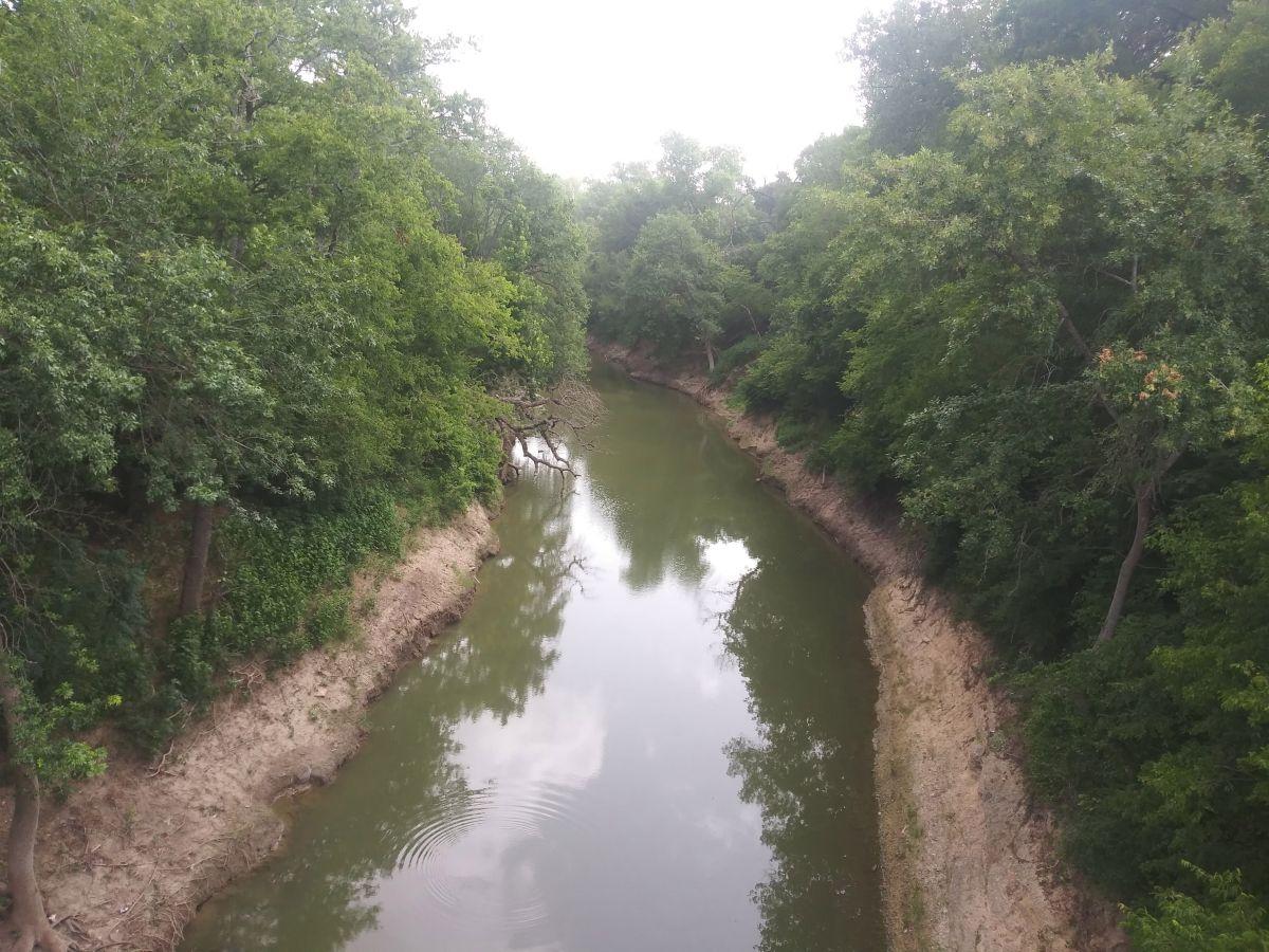 El río Leon donde buscaban a Vanessa Guillén.