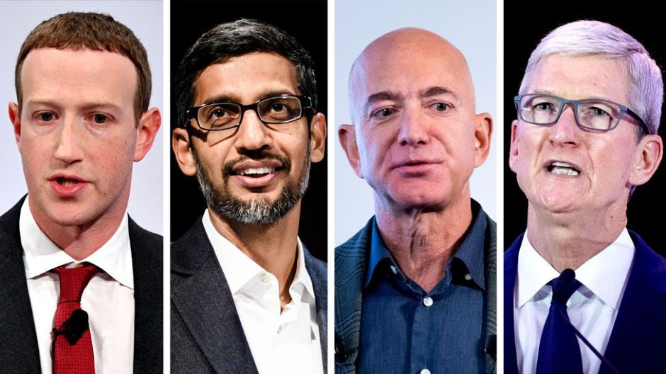 Las duras críticas del Congreso de EE.UU. ante el creciente poder de las cuatro mayores empresas tecnológicas