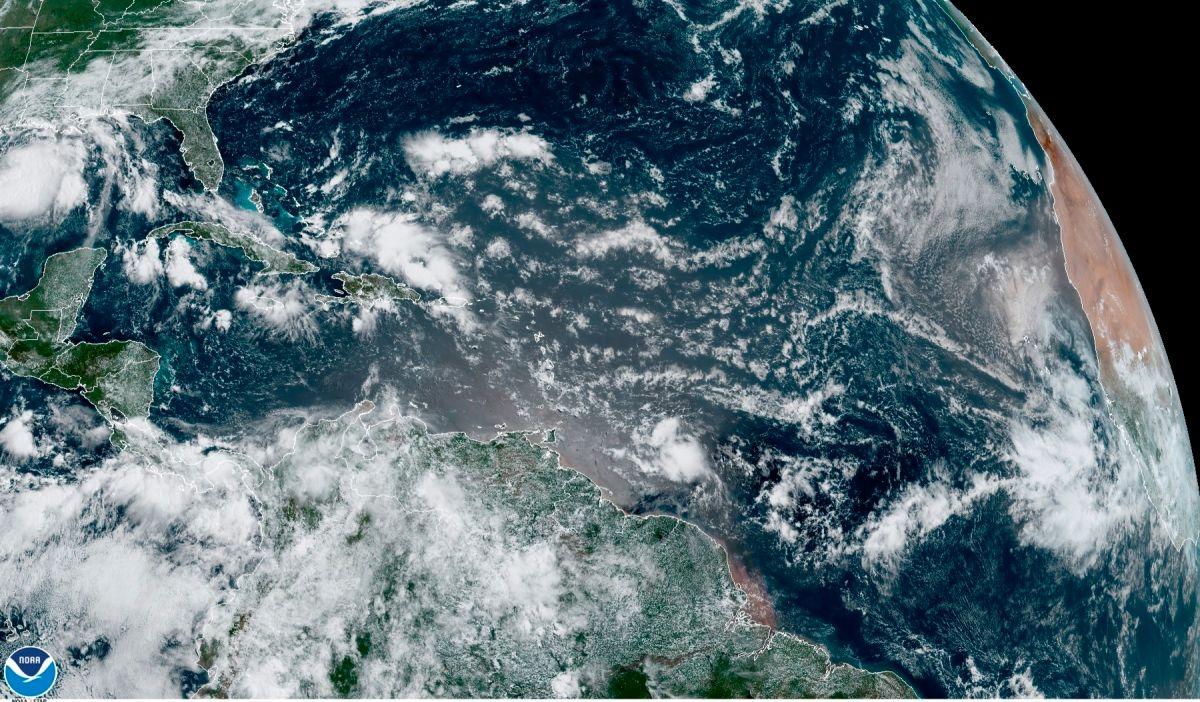 Así se ve el huracán Hanna desde el espacio