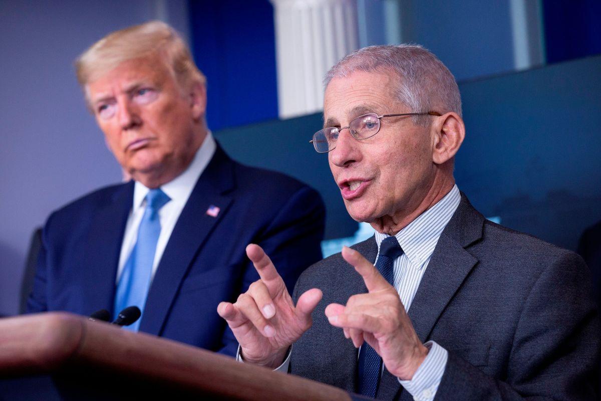 En las conferencias de prensa sobre COVID-19, Trump y Fauci se volvieron personajes antagónicos.