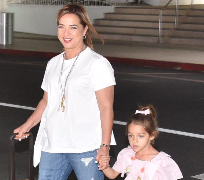 Adamari López junto a su hija Alaïa Costa.